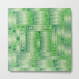 Las Vegas Street Signs Metal Print
