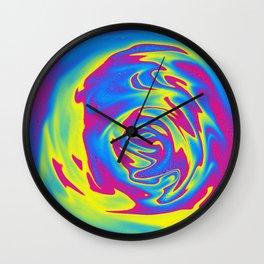 Multicolored swirl Wall Clock