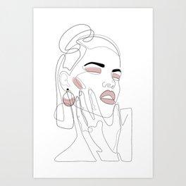 Blush Splash Art Print