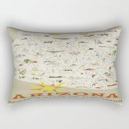 Vintage poster - Arizona Rectangular Pillow
