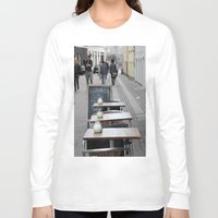 copenhagen Long Sleeve T-shirts featuring Copenhagen street cafe by RMK Creative