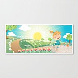 Jogger Canvas Print