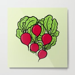 Love for Radishes Metal Print