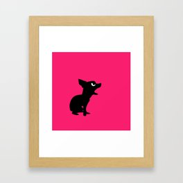 Angry Animals: Chihuahua Framed Art Print