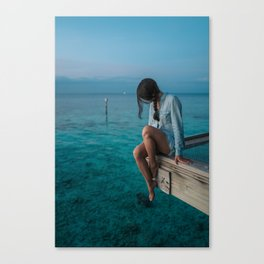 Three colors - Blue! Canvas Print