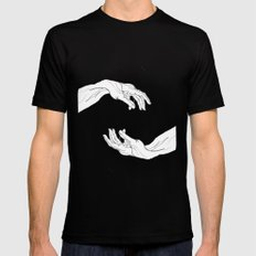 hands  Mens Fitted Tee Black LARGE