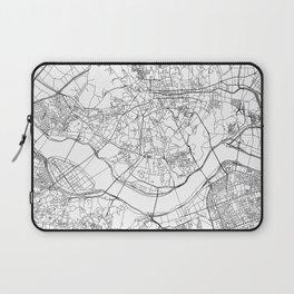 Seoul White Map Laptop Sleeve