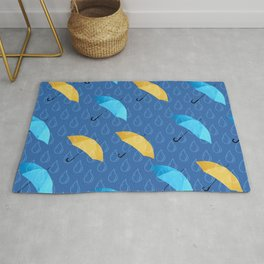 Spring Umbrellas fresh pattern Rug