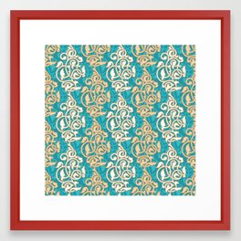 Arabesque seamless pattern Framed Art Print