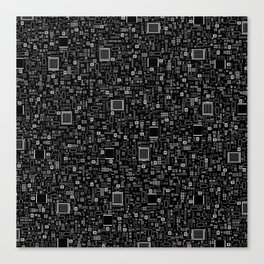 All Tech Line INVERTED / Highly detailed computer circuit board pattern Canvas Print