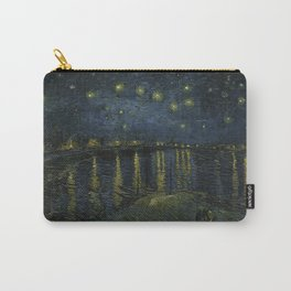 Starry Night Over the Rhone by Vincent van Gogh Carry-All Pouch