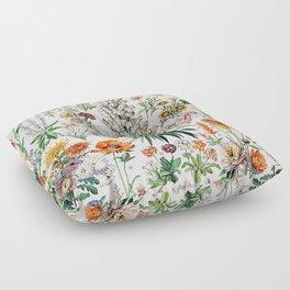 Adolphe Millot - Fleurs B - French vintage poster Floor Pillow