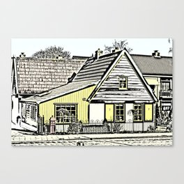 Small dutch wood house Canvas Print