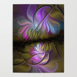 Come Together, Abstract Fractal Art Poster