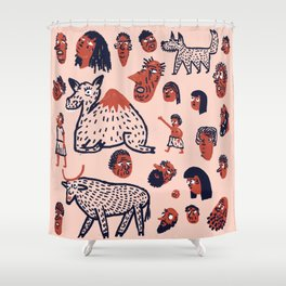 Desert People Shower Curtain