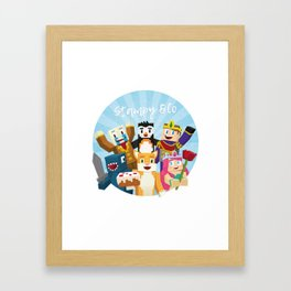 Stampy and his friends Framed Art Print