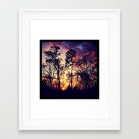 tye dye Framed Art Prints featuring Tye-Dye-Sky by Chriss Chapman