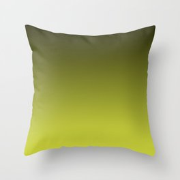 Olive Ombre. Throw Pillow