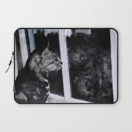 Cat Reflection And The Snapped Menace  Laptop Sleeve