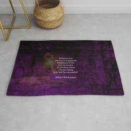 Happiness Is The Key To Success Uplifting Inspirational Quote Rug