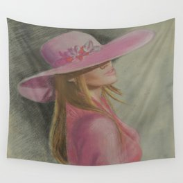 Lady in the hat Wall Tapestry