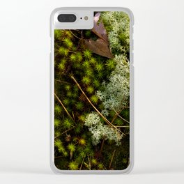 Moss Layers Clear iPhone Case
