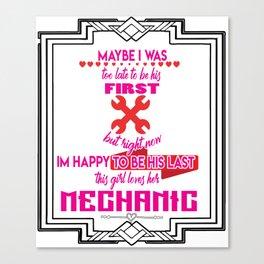 Machanic Girl Friend Lover Garage Industrial Gift Canvas Print