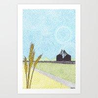 oklahoma Art Prints featuring Oklahoma by NEMO