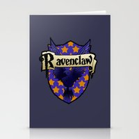 ravenclaw Stationery Cards featuring Ravenclaw Crest by AriesNamarie