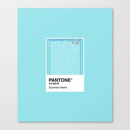 Pantone Series – Summer Swim Canvas Print