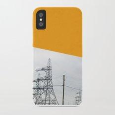 Orange Pylons iPhone X Slim Case