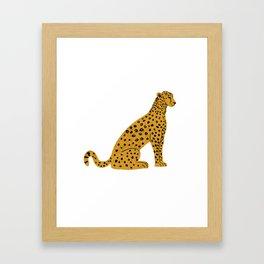 Sitting Leopard, Leopard Print, Leopard Art, Leopard Drawing, Leopard Illustration Framed Art Print