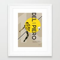 juventus Framed Art Prints featuring Del Piero FC Juventus / Serie A Superstar Football Player by Filippo Maniscalco