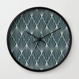 Peacock rhombus pattern Wall Clock