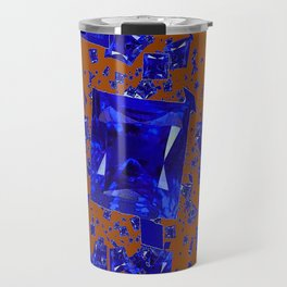 Having Coffee with Blue Sapphires Fantasy Abstract Travel Mug