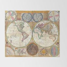 Worldmap throw blankets society6 old world map gumiabroncs Image collections