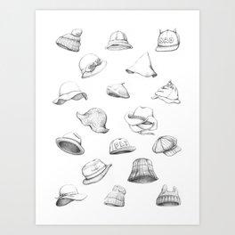 Muous Hats Art Print