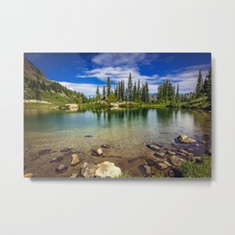 Mountain Lake in the Mt Rainier National Park Metal Print