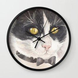 Tuxedo cat Wall Clock