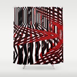 Geometric Encounters Shower Curtain