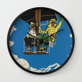 Monte Lema Vintage Travel Poster Wall Clock