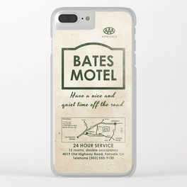 PSYCHO - Bates Motel welcomes you Clear iPhone Case