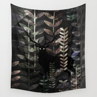 glass Wall Tapestries featuring glass forest by Dao Linh