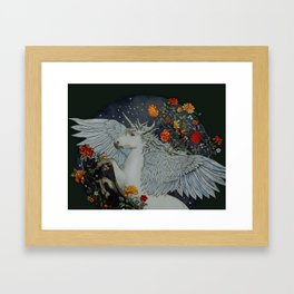 te second last unicorn Framed Art Print
