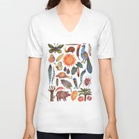 tropical V-neck T-shirts featuring Tropical by Vladimir Stankovic
