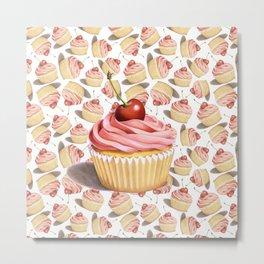 Pink Cupcake II Metal Print