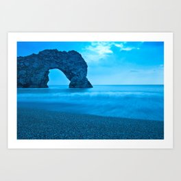 Rock named Durdle Door Art Print