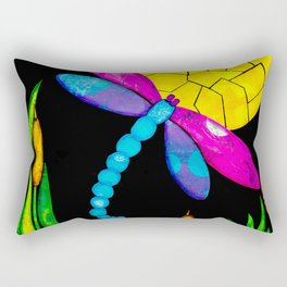 Find Your Way - paper pieced dragonfly Rectangular Pillow