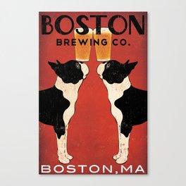 Boston Terrier Brewing Company Canvas Print