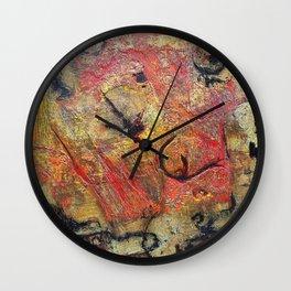 Rokteem Okhor - Mixed Media Acrylic and Foil Abstract Modern Art, 2015 Wall Clock